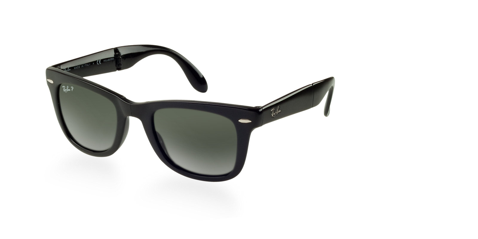 95c5650e35 Previous  Next. Previous  Next. RAY-BAN RB4105 601 58 BLACK POLARIZED FOLDING  WAYFARER SUNGLASSES