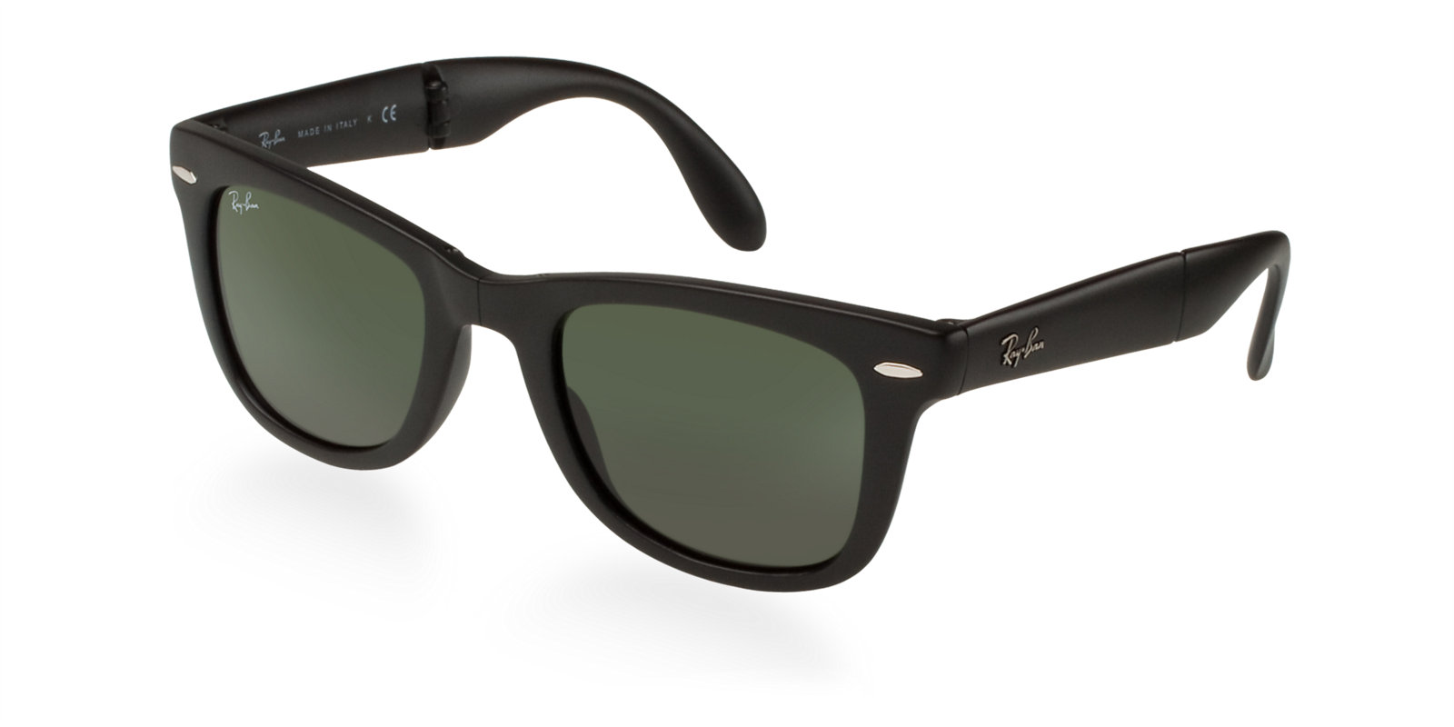 d983ab841a Previous  Next. Previous  Next. RAY-BAN RB4105 601S MATTE BLACK FOLDING  WAYFARER SUNGLASSES