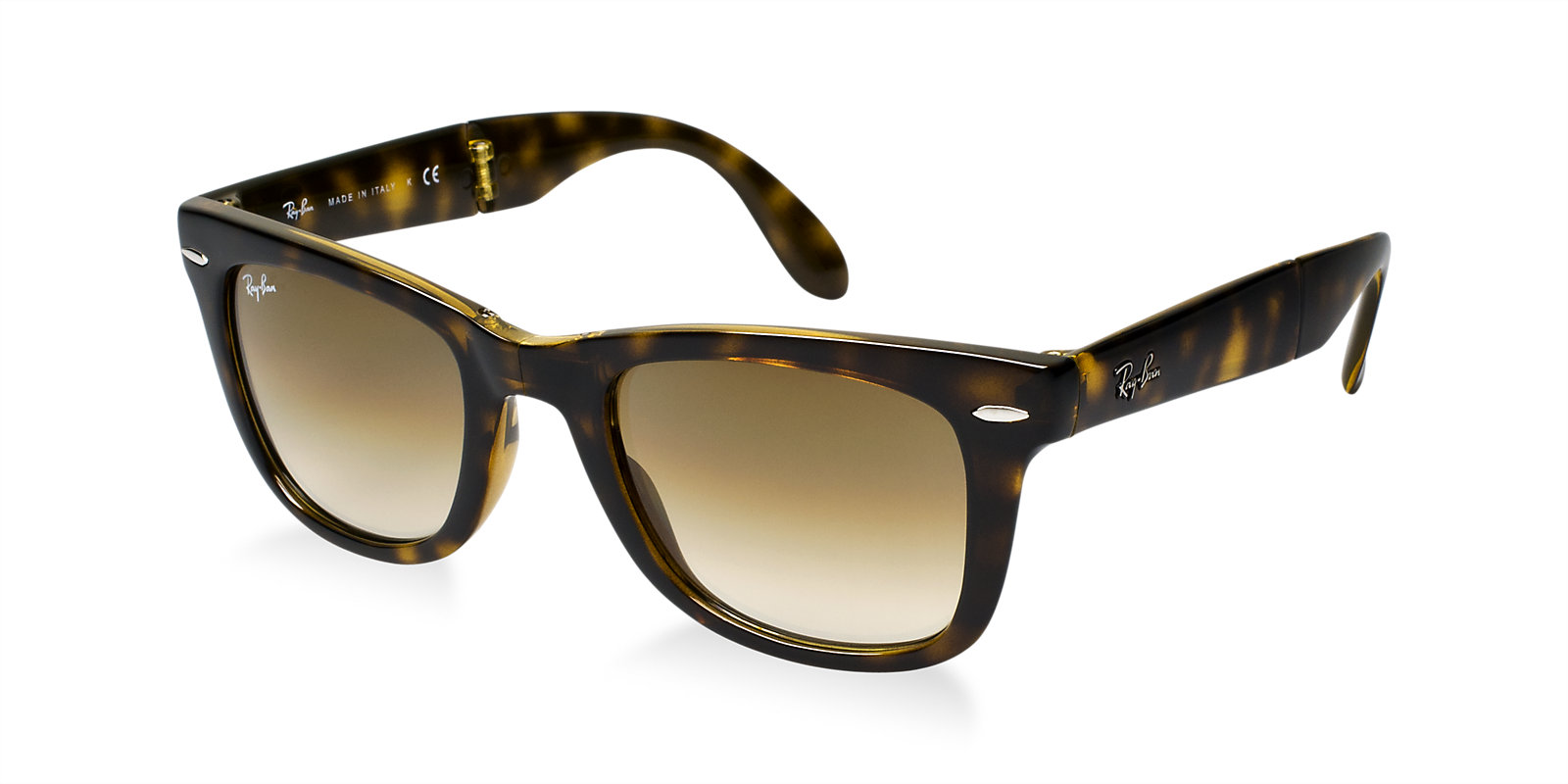 9b20412cc0 Previous  Next. Previous  Next. RAY-BAN RB4105 710 51 TORTOISE GRADIENT FOLDING  WAYFARER SUNGLASSES