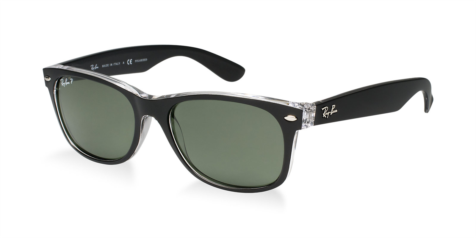 ray ban rb2132 605258 polarized new wayfarer sunglasses lux eyewear. Black Bedroom Furniture Sets. Home Design Ideas
