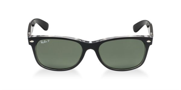 rb2132 605258 polarized trans matte black front