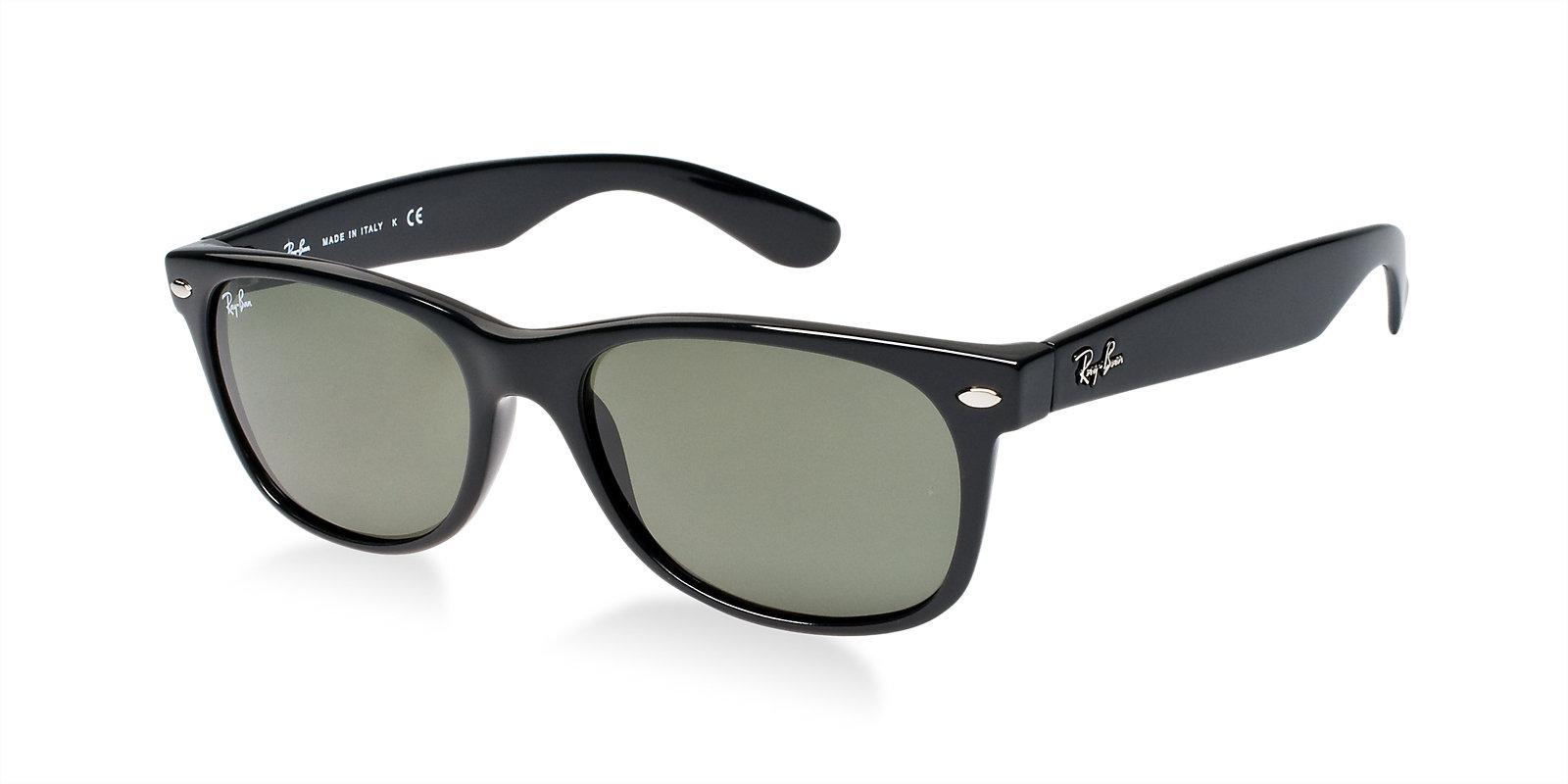 Ray Ban Rb2132 901 Black New Wayfarer Sunglasses Lux Eyewear