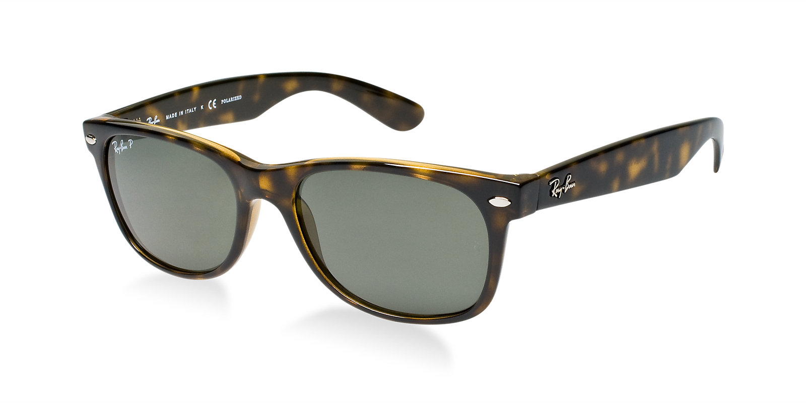 ray ban rb2132 902 58 tortoise polarized new wayfarer sunglasses lux eyewear. Black Bedroom Furniture Sets. Home Design Ideas
