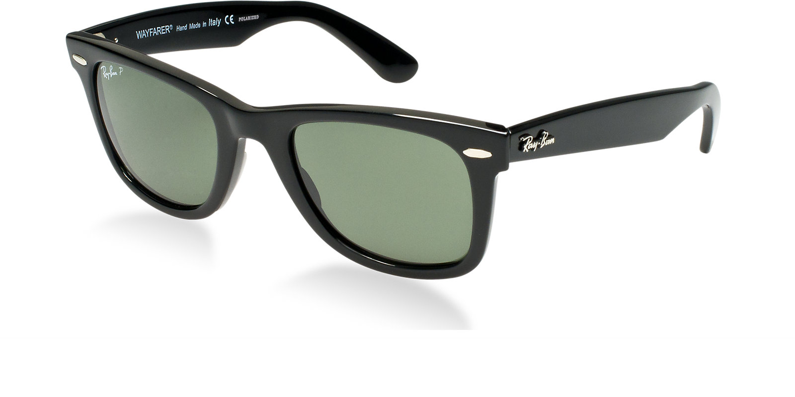 dd071a9faa RAY-BAN RB2140 901 58 BLACK POLARIZED CLASSIC WAYFARER SUNGLASSES ...