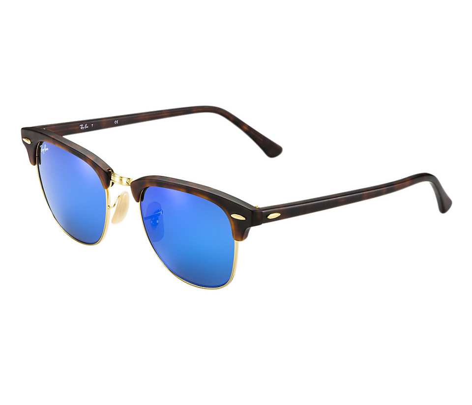 4742b0b316f Previous  Next. Previous  Next. RAY-BAN RB3016 114517 MATTE TORTOISE FLASH  BLUE CLUBMASTER SUNGLASSES