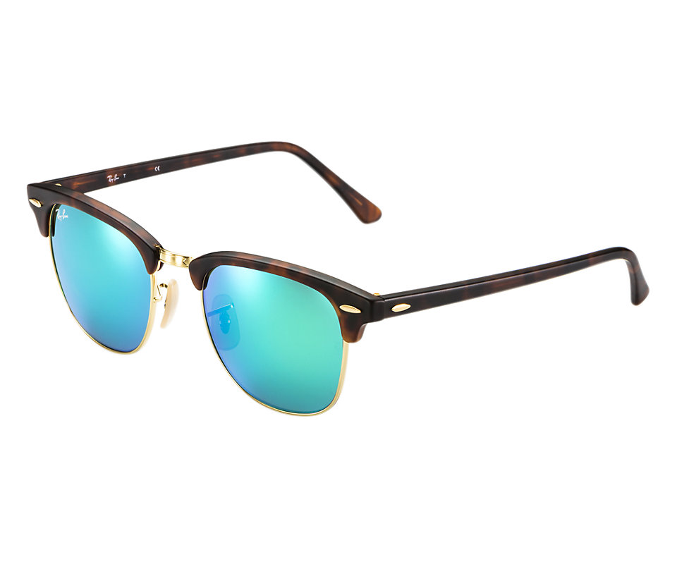 018dfbf5692 Previous  Next. Previous  Next. RAY-BAN RB3016 114519 MATTE TORTOISE FLASH  GREEN CLUBMASTER SUNGLASSES