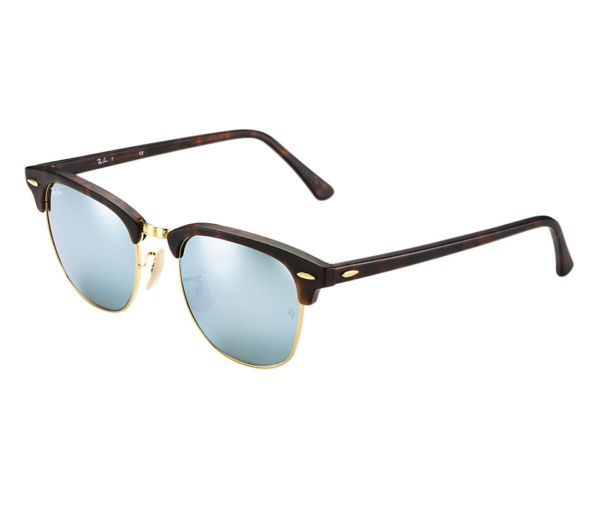 rb3016  RAY-BAN RB3016 114530 MATTE TORTOISE FLASH SILVER CLUBMASTER ...