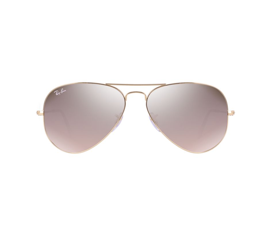 Ray Ban Rb3025 001 3e Gold Pink Aviator Sunglasses Lux