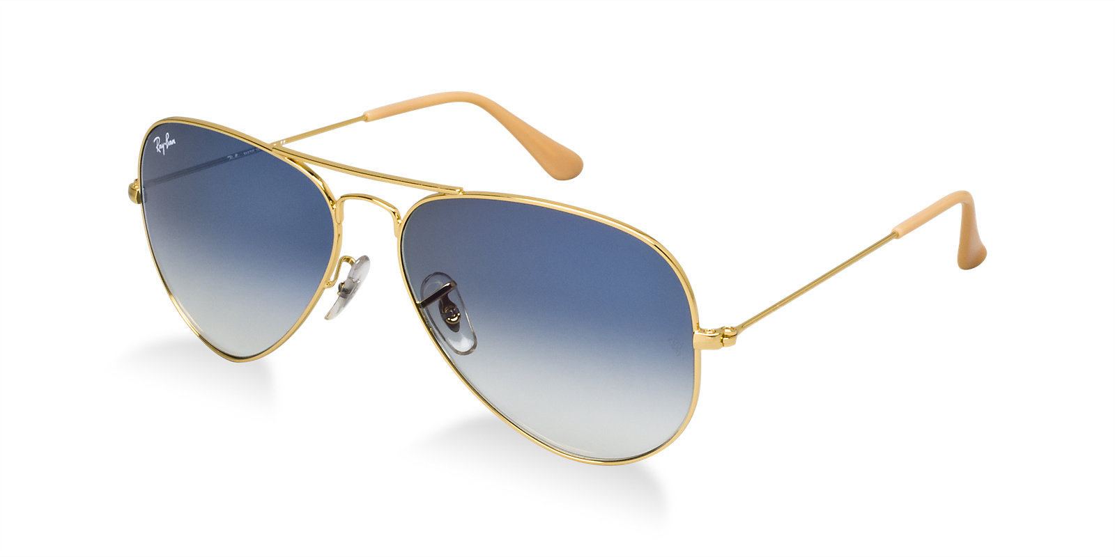 9c4bd863a17ce Previous  Next. Previous  Next. RAY-BAN RB3025 001 3F GOLD BLUE AVIATOR  SUNGLASSES