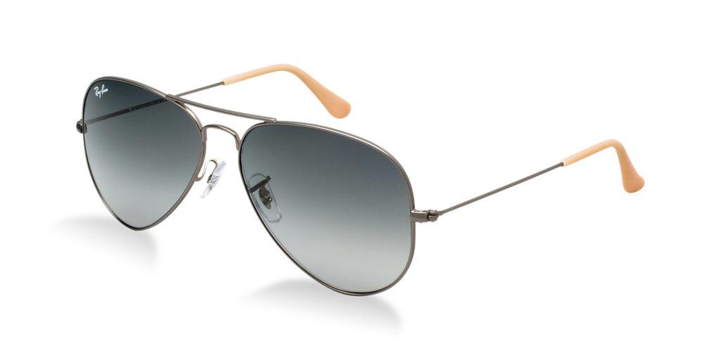 Ray ban rb3025 029 71 gunmetal aviator sunglasses lux for Ray ban aviator miroir homme