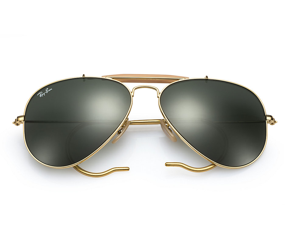 c016a89367 Previous  Next. Previous  Next. RAY-BAN RB3030 L0216 GOLD OUTDOORSMAN  SUNGLASSES