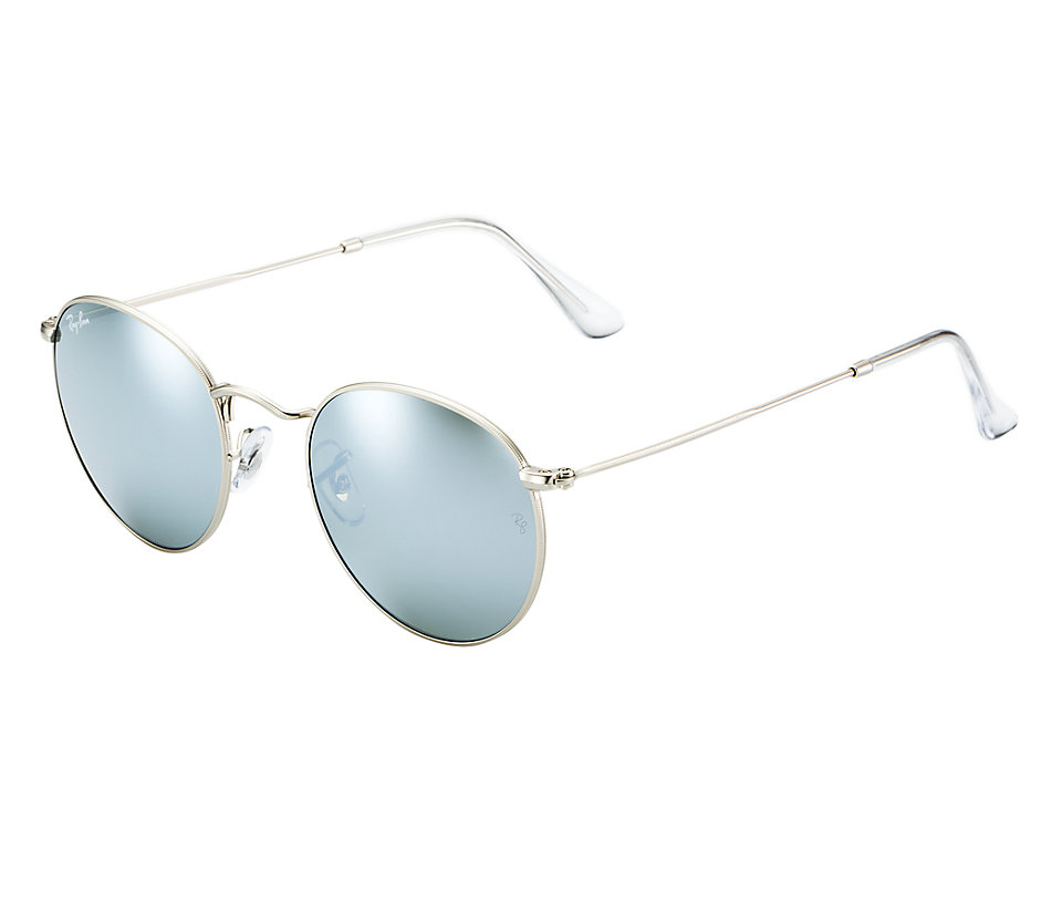 a161be175cb8c Previous  Next. Previous  Next. RAY-BAN RB3447 019 30 FLASH MIRROR ROUND  METAL SUNGLASSES