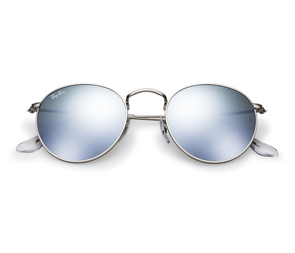 Ray Ban Rb3447 019 30 Flash Mirror Round Metal Sunglasses
