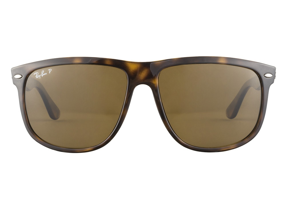 ray ban rb4147 710 57 tortoise polarized boyfriend sunglasses lux eyewear. Black Bedroom Furniture Sets. Home Design Ideas
