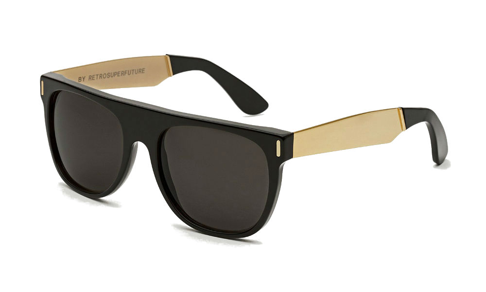 Super Flat Top Sunglasses Gold Bug Fix Super Flat Top