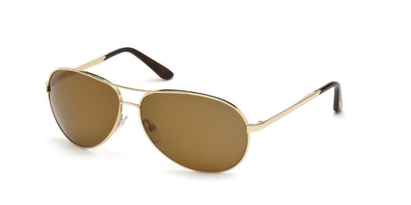 1fff9d671689 TOM FORD FT0035 28H CHARLES GOLD POLARIZED SUNGLASSES