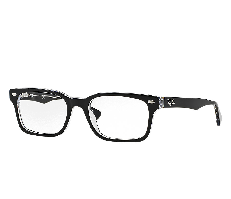 e2f603d2800 RAY-BAN RB5286 2034 BLACK TRANSPARENT EYEGLASSES