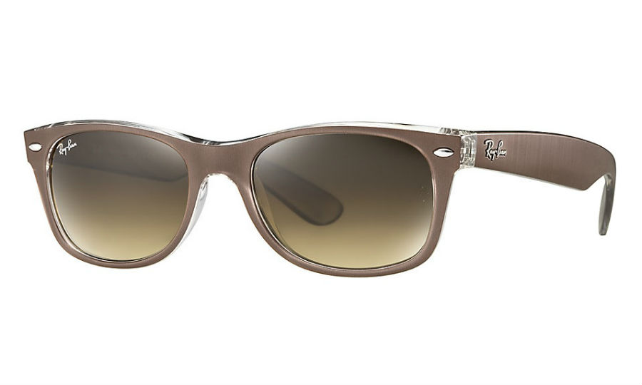 RAY-BAN RB2132 614585 BROWN NEW WAYFARER SUNGLASSES