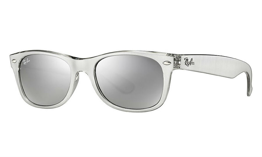 RAY-BAN RB2132 614440 SILVER NEW WAYFARER SUNGLASSES