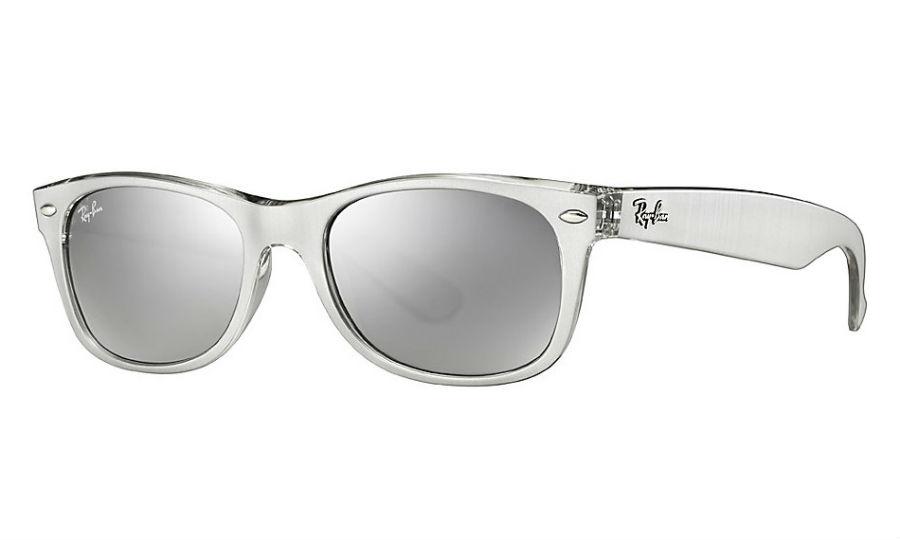 Ray Ban Rb2132 614440 Silver New Wayfarer Sunglasses Lux Eyewear