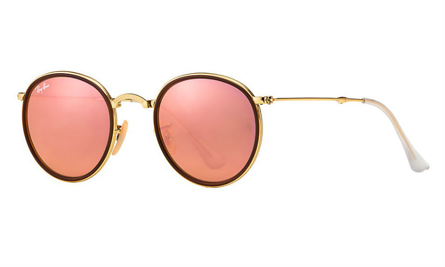 eca895dab6 Previous  Next. Previous  Next. RAY-BAN RB3517 001 Z2 GOLD FOLDING COPPER  FLASH SUNGLASSES
