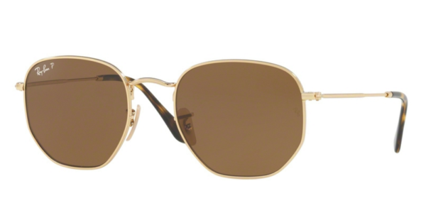 RAY-BAN RB3548N 001 57 GOLD POLARIZED SUNGLASSES . 60f16ee0a0d3