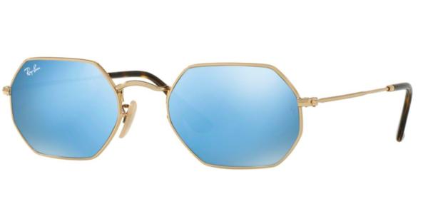 9e2e8cdec8 RAY-BAN RB3556N 001 9O GOLD FLASH MIRROR BLUE SUNGLASSES .